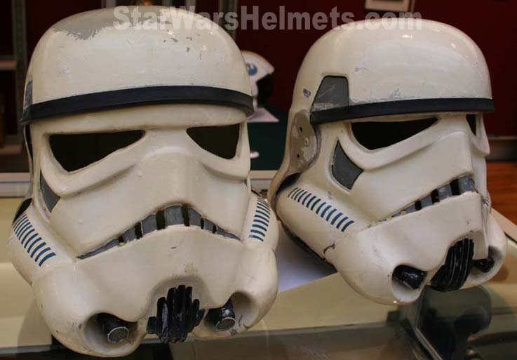 In the shot above you can see the original X-Wing helmet which can be seen on this page here. The Stormtrooper  ears  were not originals but replicas we ... & Original ANH Stunt Stormtrooper Helmets