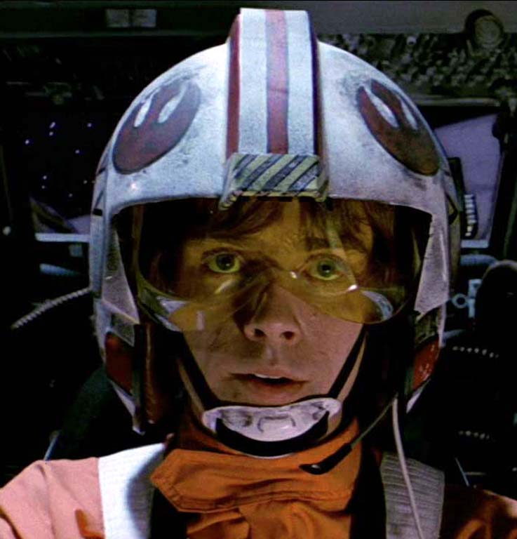 Above and Below, a view of Lukes different Hero helmets from ANH and ESB.